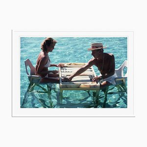 Keep Your Cool Oversize C Print Framed in White by Slim Aarons