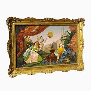 Grande scena orientalista raffigurante olio su tela, inizio XIX secolo