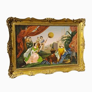 Óleo sobre lienzo orientalista grande, década de 1830
