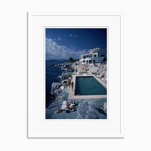 Hotel Du Cap Eden-Roc Oversize C Print Framed in White by Slim Aarons