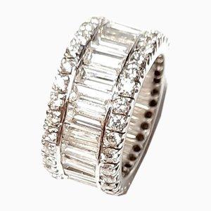 Ewiger Ring aus Weißgold und Diamanten, 1990er