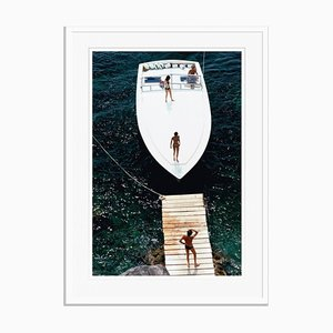 Speedboat Landing Oversize C Print Framed in White by Slim Aarons