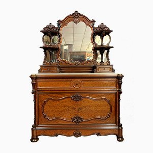 Napoleon III Rosewood and Mahogany Commode