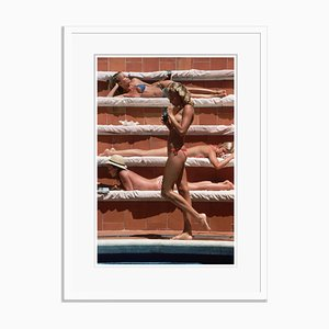 Catherine Wilke Oversize C Print Framed in White by Slim Aarons
