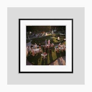 Garden Party Oversize C Print Framed in Black by Slim Aarons