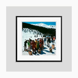 Snowmass Picnic Oversize C Print Framed in Black by Slim Aarons