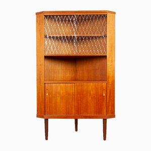 Vintage Danish Teak Corner Cabinet 1960s