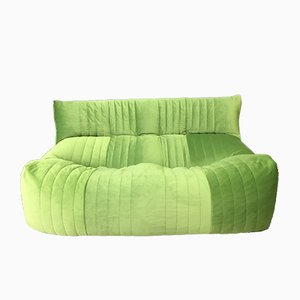 Vintage French Green 2-Seater Aralia Sofa from Ligne Roset, 1980s