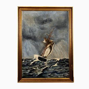 Ship During a Storm Painting, 1927
