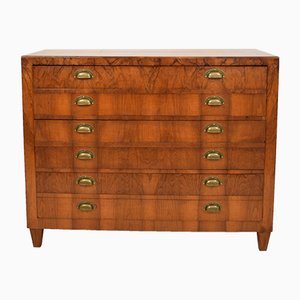 Antique Biedermeier German Walnut Chests of Drawers, 1840s