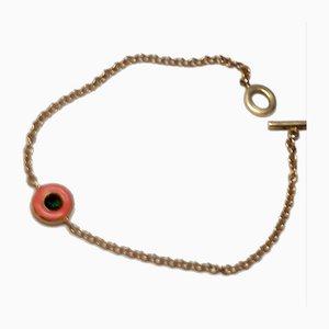 Armband aus Turmalin & Goldkette, 2000er