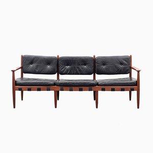 Teak & Leather Model 925 Sofa by Sven Ellekaer for Coja, 1960s