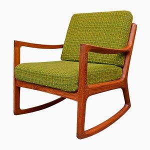 Rocking Chair Vintage en Teck par Ole Wanscher pour France & Søn / France & Daverkosen