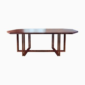Vintage Hollywood Regency French Burgundy Dining Table by Pierre Vandel, 1970s