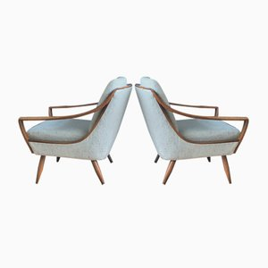 Mid-Century Easy Chairs, 1950s, Set of 2