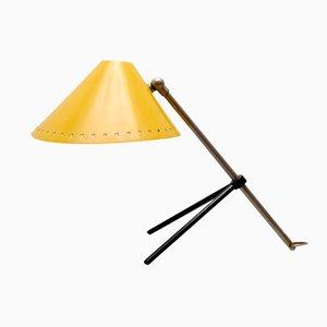 Gelbe Pinocchio Tischlampe von H.Th.J.A. Busquet für Hala, 1953