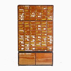 Grande Armoire Card Industrielle, Hongrie, 1950s