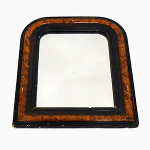 Antique Faux Wood Frame Wall Mirror