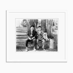 Laurel and Hardy in Early to Bed Archival Pigment Print Framed in White by Bettmann