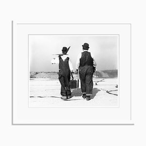 Laurel and Hardy Archival Pigment Print Framed in White by Bettmann