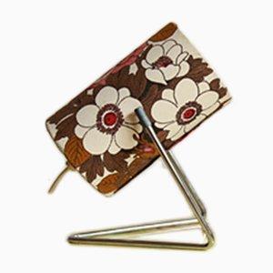 Lampada da tavolo vintage con tessuto floreale, Italia, anni '60