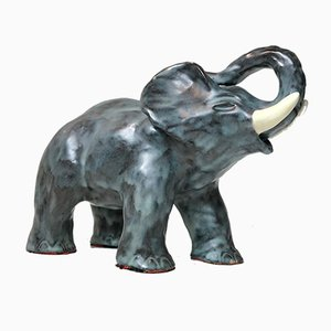 Danish Ceramic Elephant from Michael Andersen & Son, 1970s