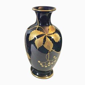 Blue Glazed Earthenware Vases by Gustave Asch for Sainte-Radegonde, 1923, Set of 2
