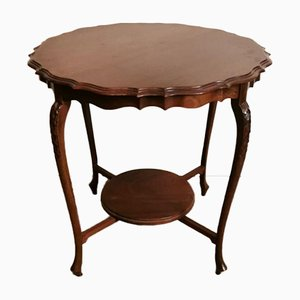 Antique English Chippendale Style Mahogany Tea Table, 1910s