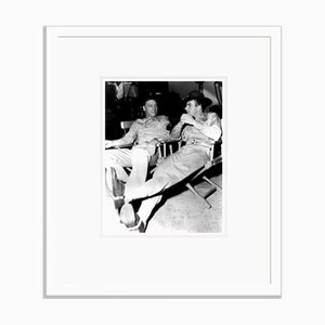 Burt Lancaster & Montgomery Clift on Set 1953 Archival Pigment Print Framed in White by Everett Collection