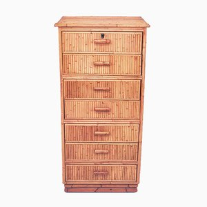 Vintage Spanish Bamboo Chest of Drawers, 1970s