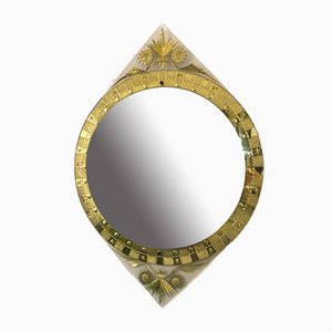 Mid-Century Italian Gold Carved Mirror from Cristal Art, 1960s