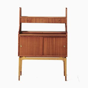Small Scandinavian Style Bookcase with Teak Desk, 1950s