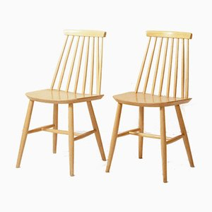 Mid-Century Model Tellus Pinnstolar Dining Chairs from Ikea, 1950s, Set of 4