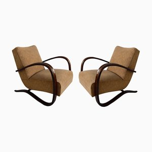 Vintage Model H-269 Armchairs by Jindřich Halabala for UP Závody, 1930s, Set of 2
