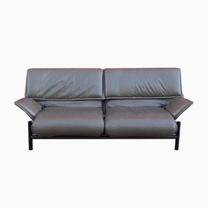 Leather Veranda Sofa by Vico Magistretti for Cassina, 1980s