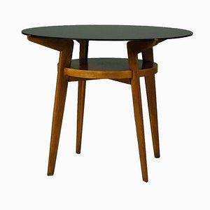 Table Basse avec Plateau en Verre Noir de Jitona, République Tchèque, 1960s