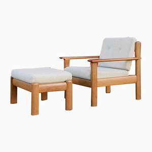 Lounge Chair & Ottoman from Knoll Antimott, 1960s, Set of 2