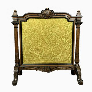 Louis XVI Rosewood and Genoa Velvet Screen