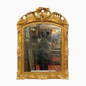 Miroir Regency 18ème Siècle en Bois Doré et Bois Sculpté