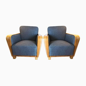 Vintage Art Deco Lounge Chairs, Set of 2