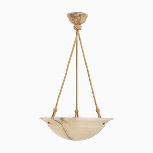 Lámpara colgante Art Déco de alabastro, años 20