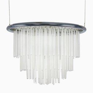 Lampadario minimalista in vetro soffiato, anni '70