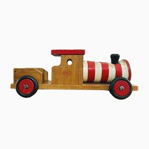 Giocattolo da treno vintage in legno, Belgio, anni '50