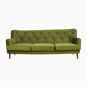 Mid-Century Velvet Sofa, 1960s