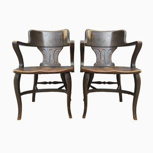 Antique Armchairs by Johnson Ford, Set of 2