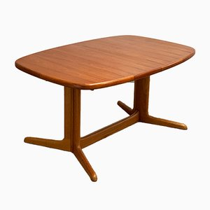Mid-Century Danish Teak Oval Dining Table from Rasmus Solberg, 1960s