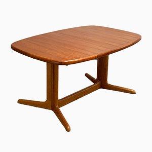 Table de Salle à Manger Ovale Mid-Century en Teck de Rasmus Solberg, Danemark, 1960s