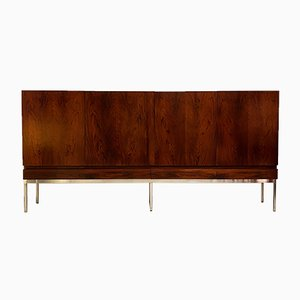 Mid-Century Minimalist German Model B60 Rosewood Credenza by Dieter Wäckerlin for Behr, 1950s