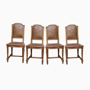 Antique Louis XVI Style Dining Chairs, Set of 4