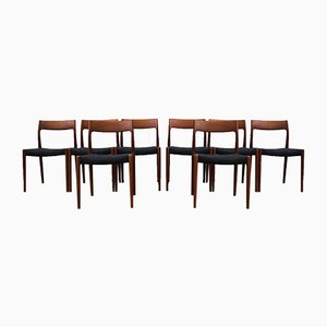 Mid-Century Danish Model 77 Dining Chairs by Niels Otto Møller for J.L. Møllers, 1960s, Set of 4